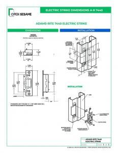 Adams Rite 7440 Electric Strike installation