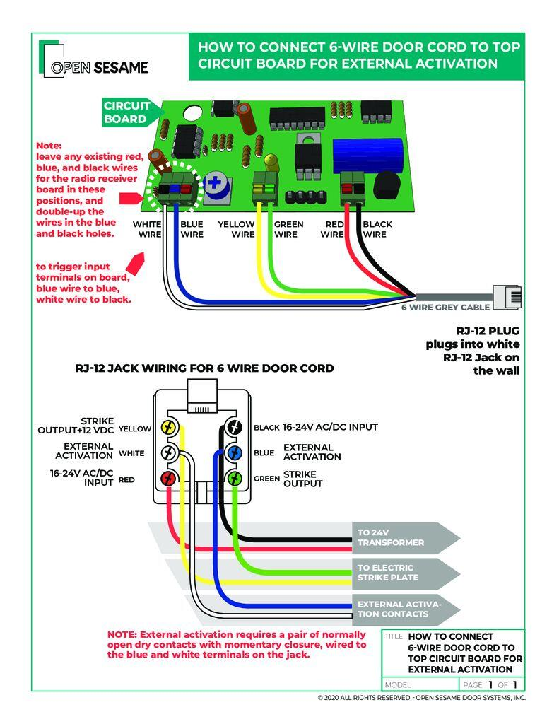 external activation wiring diagram