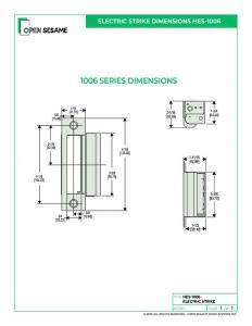 HES-1006 Electric Strike dimensions