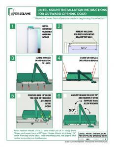 lintel mount instructions outward opening doors