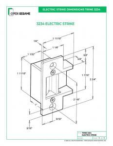 Trine 3234 Electric Strike dimensions